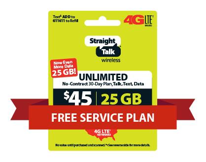 GET A FREE SERVICE PLAN   Straight Talk
